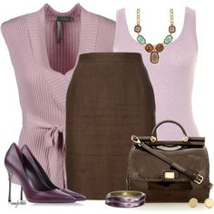 """""""Lilac/Brown Contest"""" by amybwebb on Polyvore"""
