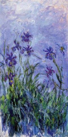 monet - lilac irises (1917)