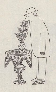 The immortal Saul Steinberg. Love.