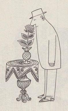 The immortal Saul Steinberg. Love.