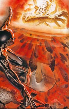 Marvels - Alex Ross Silver Surfer and Galactus