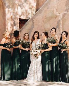 Emerald Bridesmaid Dresses, Wedding Bridesmaids, Wedding Attire, Wedding Dresses, Forrest Green Bridesmaid Dresses, Christmas Bridesmaid Dresses, Rustic Bridesmaid Dresses, Bridal Party Dresses, Emerald Green Weddings