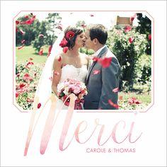 carte de remerciements de mariage aquarelle personnaliser sur httpwww - Carte Remerciement Mariage Pas Cher