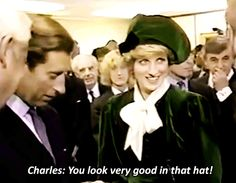 "shewolfofengland: "" Princess Diana's adorable reaction when Prince Charles pays her a sweet compliment. ♛ """