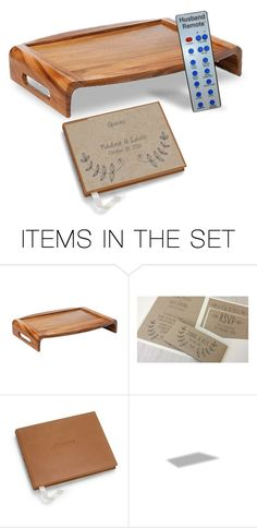 """""Next a Lap Tray, the Guest Book From Em & a Little Something From Fred""…""Nadine, I Have No Idea What He's Doing With Lewis But I'm Sure There Will Be 'Interesting' Presents There as Well!""…""Em, the Book's Beautiful But You Can Keep the Remote for Fred!"""" by maggie-johnston ❤ liked on Polyvore featuring art"