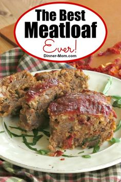 Gourmet Meatloaf Recipe with Sun-dried Tomatoes The Best Meatloaf Ever is full of flavor from cheese, sundried tomatoes, basil and is made with oatmeal so it's gluten-free. Extremely popular recipe from our Make Ahead Meal Kitchen! Gourmet Meatloaf Recipe, Good Meatloaf Recipe, Best Meatloaf, Meatloaf Recipes, Meatball Recipes, Beef Recipes For Dinner, Delicious Dinner Recipes, Make Ahead Freezer Meals, Recipe For Mom