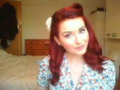 Rockabilly hairstyle-- less dramatic, i could pull this off on the daily, maybe?