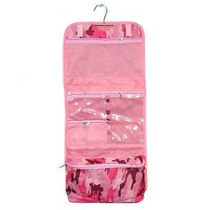cd4020067 Pink Camo Travel Hanging Cosmetic Case Bag by Treasure & Treasures.  $11.59. Two