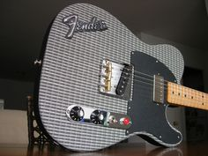 Fender Telecaster Metal SWEET!! Looks like an old Fender Tweed Amp and a neck humbucker to boot!!