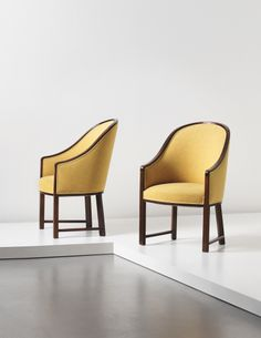 PIERRE CHAREAU Pair of armchairs, circa 1922