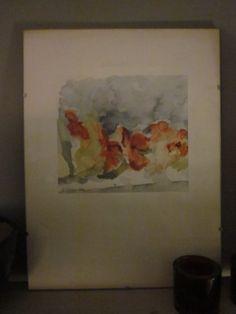 En akvarell av mig. Blomman är Flitiga Lisa.