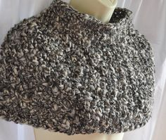 Crocheted poncho in thick alpaca wool by KororaCrafters on Etsy