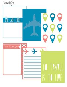 Free Travel Journal Cards for Project Life