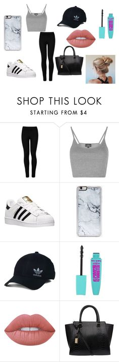 """cute tumblr go to outfit"" by abbygurl9090 on Polyvore featuring Wolford, Topshop, adidas, Zero Gravity, adidas Originals and Lime Crime"