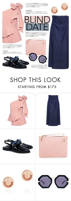 """""""Dress to Impress: Blind Date"""" by ifchic ❤ liked on Polyvore featuring TIBI, Mother of Pearl, Karen Walker, Ruifier, contestentry, blinddate and ifchic"""
