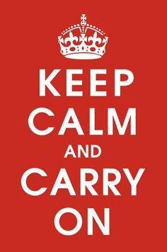 Keep Calm (Red) Fine Art Print by Unknown at FulcrumGallery.com
