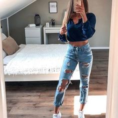 45 Impressive Summer Outfits Style With Jeans to Inspire You Cute Comfy Outfits, Teenage Outfits, Cute Casual Outfits, Sporty Outfits, Summer Fashion Outfits, Cute Summer Outfits, Outfits For Teens, Casual Chic, Stylish Outfits