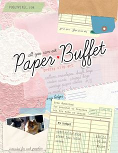 various papers and clip art