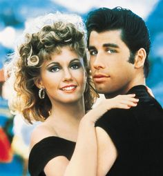 Sandy Olsen & Danny Zuko The Movie: Grease The Actors: Olivia Newton John & John Travolta Olivia Newton John Grease, John Newton, Danny Zuko, Grease 1978, Grease Movie, Musical Grease, Film Musical, Grease 2, Vintage Movies