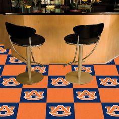 Auburn Tigers Orange/Blue Team Proud Carpet Tiles