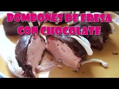 BOMBONES DE FRESA CON CHOCOLATE - YouTube Candy Making, Chocolate Recipes, Buffet, Sausage, Recipies, Pork, Beef, How To Make, Gluten