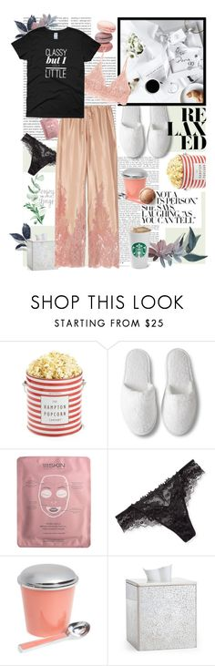 """""""PJs All Day: Lovely Loungewear Contest #2"""" by katartrina ❤ liked on Polyvore featuring Oris, 111Skin, Lise Charmel, Marigold Artisans, Labrazel, Rosamosario and Hanky Panky"""