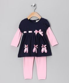 Take a look at this Pink Ballet Layered Tunic & Leggings - Infant by Rare Editions on #zulily today!