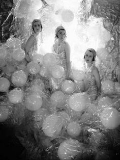 The Soapsuds Group - At the Living Posters Ball, 1930  Baba Beaton, Wanda Baillie-Hamilton and Lady Bridget Poulett