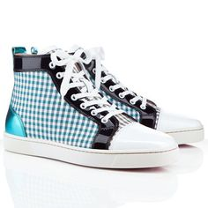 9a7268d62d2 Christian Louboutin Louis High Top Sneakers Blue Black Christian Louboutin  Outlet