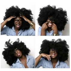 Stretched out #naturalhair This big & wild look is so pretty.