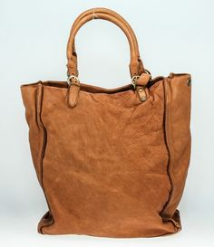 Borsa in pelle lavata marrone  borse  bags  donne   fashion  style   b367fce0efa
