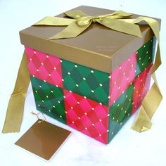 New Avon Square Gift Wrap Box Folding Collapseable with Lid Ribbon Note Card $14.98  we sell more CHRISTMAS DECORATIONS at http://www.TropicalFeel.com