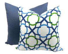 Love this Luxurious Blue Trellis Print Throw Pillow Set, by Trellis Home Decor.