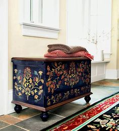 Handpainting can change the whole look of furniture
