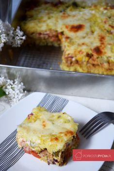 zapiekanka gyros Mozzarella, Quiche, Curry, Food And Drink, Cheese, Cooking, Breakfast, Recipes, Polish