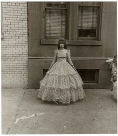 Diane Arbus, Young girl after the Puerto Rican parade, N.Y.C. 1963