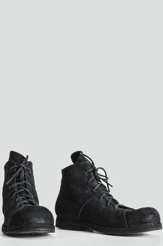 Preach - Reversed calf leather laced ankle boots