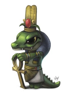 Lil Sobek by Silverfox5213.deviantart.com on @deviantART    I love this one, particularly the expression! :)