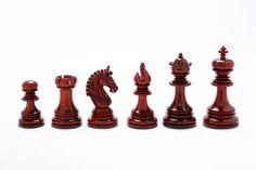 "The Indian Chetak II Customized Staunton Chess Set in Bud Rose & Box Wood - 4.2"" King"