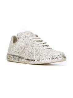 Maison Margiela glitter lace-up sneakers