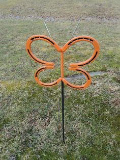 A Horseshoe Butterfly that I made horsesho idea, horsesho craft, horsesho butterfli, horsesho art, horsesho decor