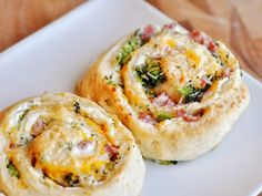 Ham and Broccoli Cheese Stuffed Spiral Rolls
