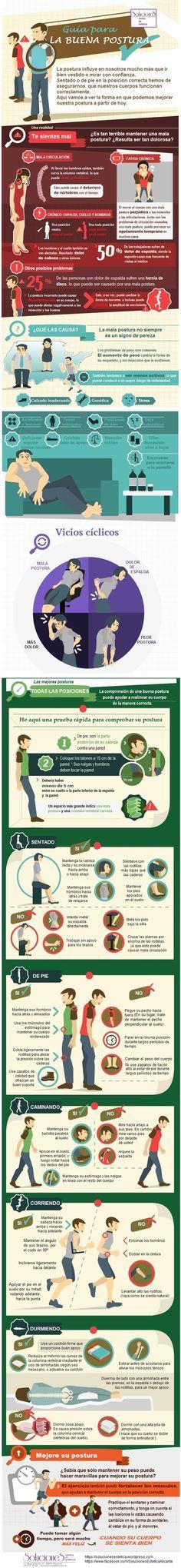 Infografía: Mantener la buena postura