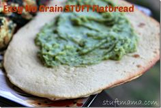 No Grain STUFT Flatbread  #21dsd #grainfree #flatbread