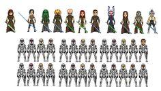Jedi micro heroes