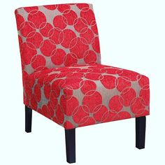 Shop Worldwide Home Furnishings !nspire Fabric Accent Chair at Lowe's Canada. Find our selection of accent chairs at the lowest price guaranteed with price match. Armchairs And Accent Chairs, Accent Chairs For Living Room, Living Room Furniture, House Furniture, Living Rooms, Chair Upholstery, Upholstered Chairs, Red Accent Chair, Online Furniture Stores