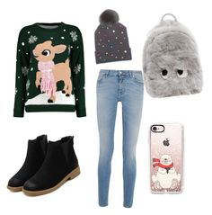 """""""Winteroutfit 6"""" by laurozic on Polyvore featuring Mode, Boohoo, Givenchy, Anya Hindmarch, Casetify und House of Lafayette"""