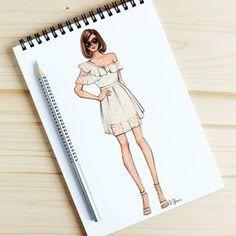 Style of Brush by Gizem Kazancıgil gizem kazancigil Dress Design Drawing, Dress Design Sketches, Fashion Design Sketchbook, Fashion Design Portfolio, Fashion Design Drawings, Fashion Sketches, Fashion Drawing Dresses, Fashion Illustration Dresses, Fashion Illustrations