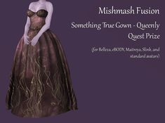 Merchant: Mishmash Fusion Prize Name: Something True Gown - Queenly Prize Type: Women's Apparel Serenity, Victorian, Gowns, Type, Clothes For Women, Fashion, Vestidos, Outerwear Women, Moda