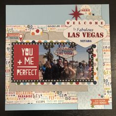 Las Vegas scrapbook layout Scrapbook Travel Album, Vacation Scrapbook, 12x12 Scrapbook, Wedding Scrapbook, Scrapbook Sketches, Scrapbook Page Layouts, Card Sketches, Scrapbook Designs, Proud Mom Quotes